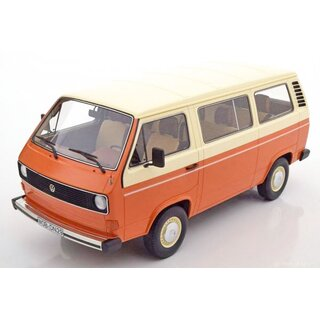 VW Bus T3 Bus elfenbein-orange 1:18
